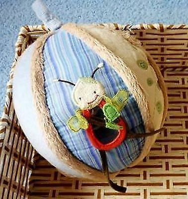 Baby Kids Soft Plush Embroidery Stuffed Ball Rattle Toys Shower Gift for baby