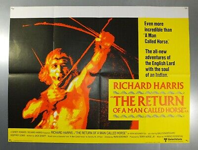 The Return Of A Man Called Horse -Richard Harris- Original Uk Quad Movie Poster