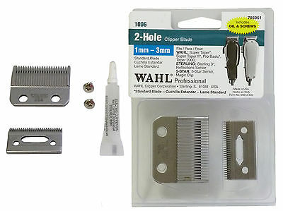 Wahl Professional 2-Hole Clipper Standard Replacement Blade 1mm-3mm Barber New
