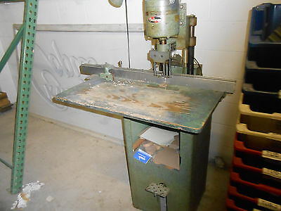 Challange Paper Drill On Stand ,single Head / With Extra Bits / Used/115V