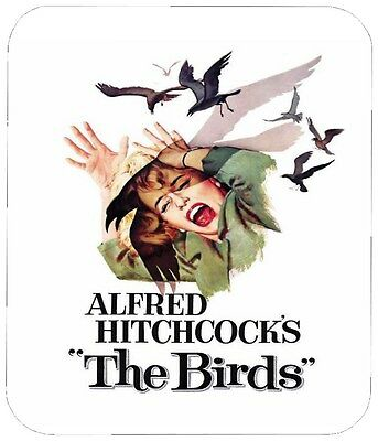 The Birds Mouse Pad 1/4 In. Retro Horror Movie Mousepad