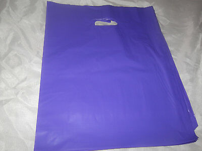 100 12x15 Purple Glossy Low-Density Plastic Merchandise Bags WHandles Wholesale