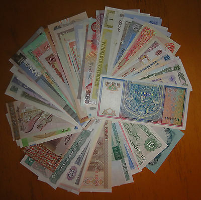 100 Pieces Worldwide Different MIX Banknotes UNC
