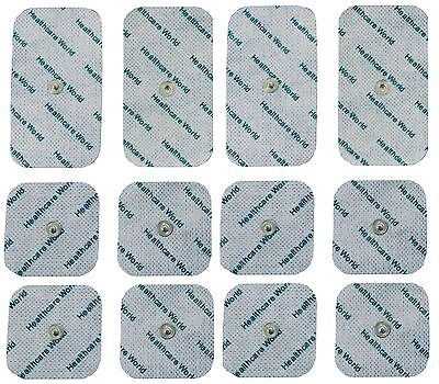 Mixed Stud Tens Pads For Beurer and Sanitas Tens Machines 8 Square & 4 Large