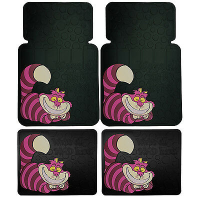 4P CHESHIRE CAT Alice's Adventure DREAMLAND CAR TRUCK SUV FLOOR MATS MADE IN USA
