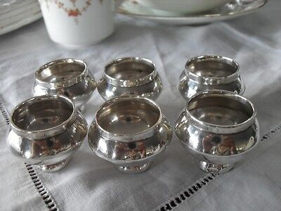 Sei Saliere In Argento Sterling Antico   Six Vintage Silver Dining Table Salts