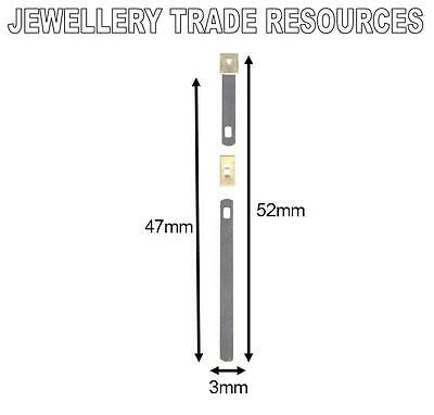 CLOCK SUSPENSION SPRING TOP QUALITY STEEL BRASS 52mm x 3mm x 47mm SPARES  PARTS