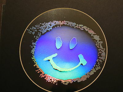 SMILEY FACE Hologram Picture, 3D Embossed Type