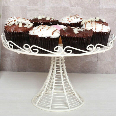 Wire Cake Stand | Cream Metal Wire Cake Stand 1 Tier Cupcake Display Centrepiece
