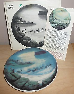 Arabia Finland - Reindeer Plate - Limited Edition 1983   (G532)
