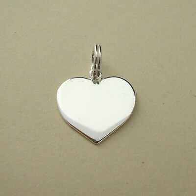 Sterling Silver Etched Love Message Heart Charm 18mm Pack of 1 B91//5