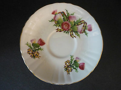 Royal Grafton Pink Thistle Tea Cup Saucer