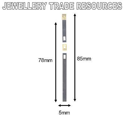 CLOCK SUSPENSION SPRING TOP QUALITY STEEL BRASS 85mm x 5mm x 78mm SPARES  PARTS