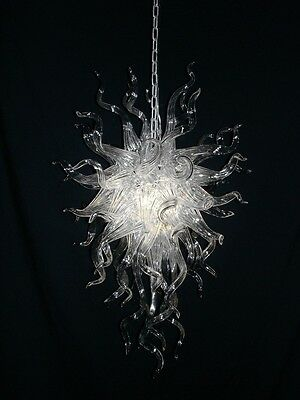 Blown Glass Chandelier by Seth Parks