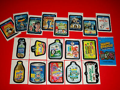 "Wacky Packages Ans8 Both """"go To Movies & Pack To The Future"""" Sets + 1 Wrapper"