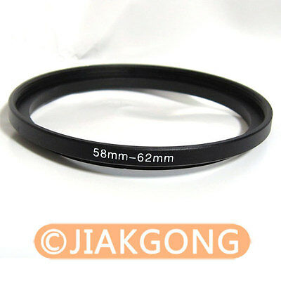 58mm-62mm 58-62 mm Step Up Filter Ring Stepping Adapter
