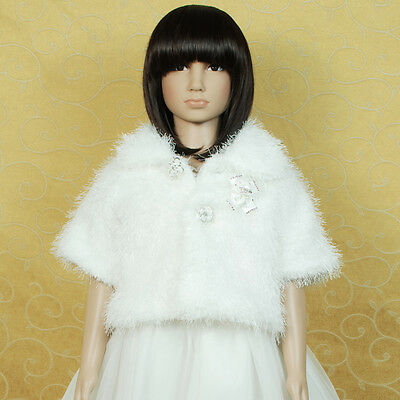 New Ivory Faux Fur Bolero/Poncho available from 2 years to 6 years