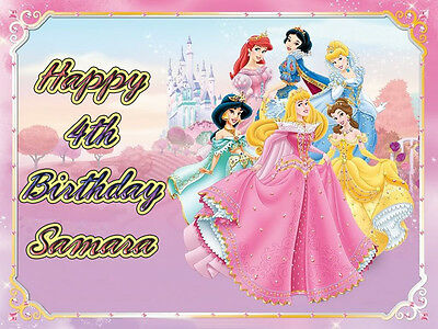 PRINCESS Edible CAKE Decoration Frosting Sheet Image Icing Topper Disney