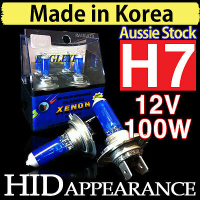 H7 Globes 100W Xenon HID Bulbs Crystal White Vision Headlight 12V 100W Low High