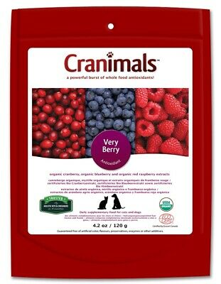 Cranimals Very Berry for Cats & Dogs 120g Vegan Supplement Antioxidant