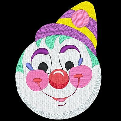 Clown Faces - 30 Machine Embroidery Designs (Azeb)