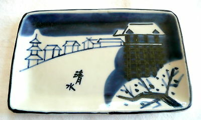 Vintage Japanese SIGNED Hand Painted Art Pottery TRAY