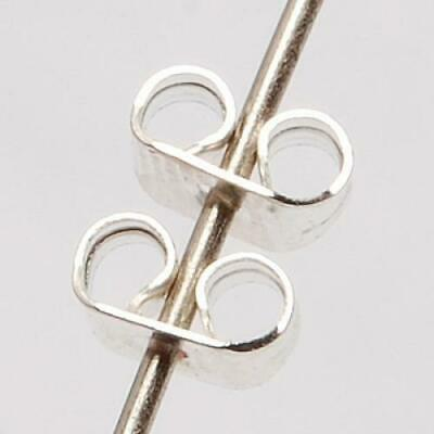 50pc Silver Plated Butterfly Earring Ear Stud Back Stoppers Fasteners 3mm x 5mm