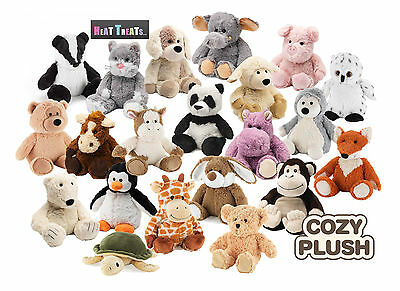 NEW Intelex Cozy Plush Fully Microwavable Soft Toys Lavender Scented 25 Animals
