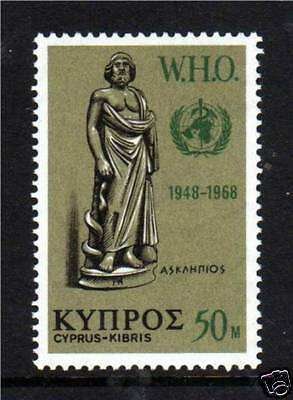 Cyprus 1968 Anniversary of WHO SG323 MNH