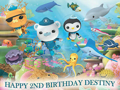 OCTONAUTS Edible CAKE Image Icing Topper Birthday Party Supply FREE SHIPPING
