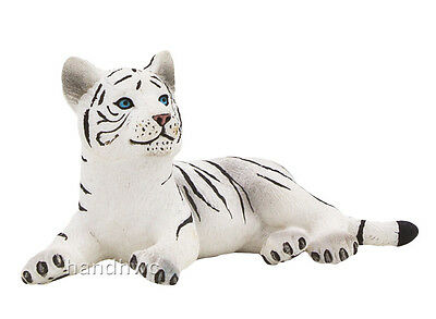 Mojo Fun 387015 White Tiger Cub Lying -  Wildlife Zoo Animal Toy Figurine - NIB