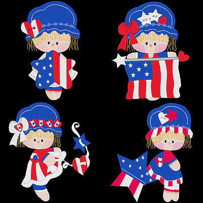 Patriotic Ragdolls - 30 Machine Embroidery Designs (Azeb)
