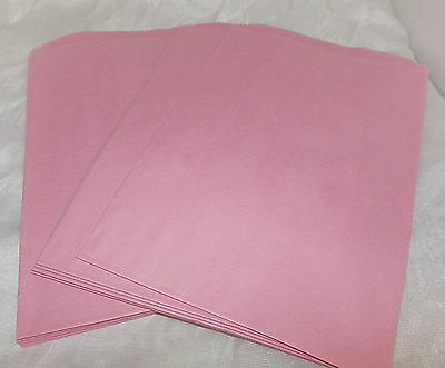 100 6x9 Pink Paper Merchandise Bags, Party Favor Bags, Pastel Pink Colored Bags