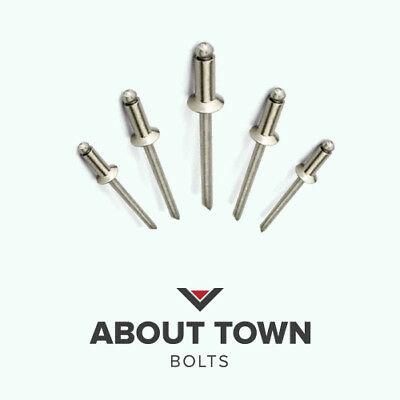 4.0mm  A2 Stainless Steel Countersunk Open Blind Pop Rivets
