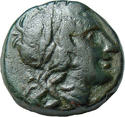 Pella, Macedon. AE Autonomous 187-31 BC., Apollo & Lyre Authentic Greek Coin