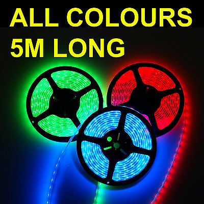 5M 3528 Smd Led Light Strip Warm Day White Red Blue Green Bedroom Conservatory