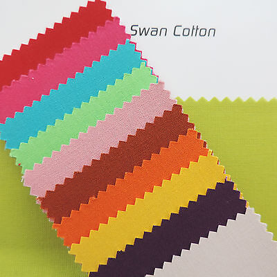 "Swan by STOF Plain 150cm / 60"" Wide Linen 100% Cotton Fabric Quilting Craft FQ"