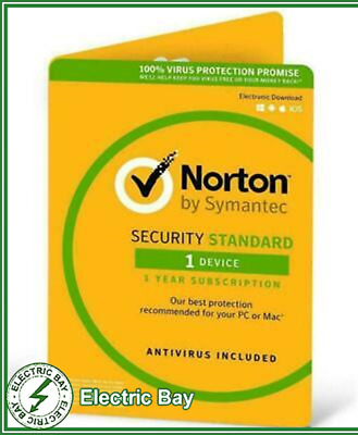 Symantec Norton Internet Standard 2017 Antivirus 1 User 1 Year Windows and MAC