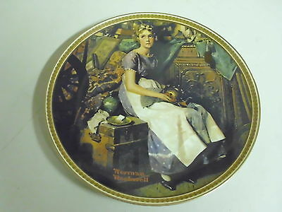 NORMAN ROCKWELL COLLECTOR PLATE DREAMING IN THE ATTIC REDISCOVERED WOMEN