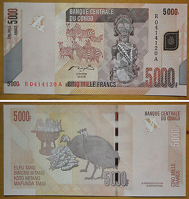 Congo Paper Money 5000 Francs UNC 〓