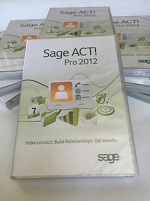 New Sage ACT! Pro 2012 1 User - 3 Activations (DVD) - Full Version
