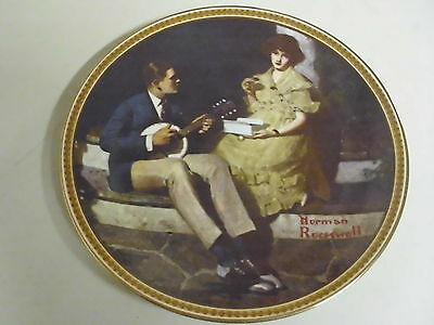NORMAN ROCKWELL COLLECTOR PLATE PONDERING ON THE PORCH REDISCOVERED WOMEN