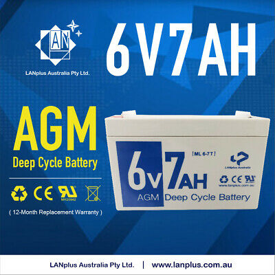 Brand New 6V 7AH Sealed Lead-Acid Battery AGM UPS APC Alarm Toy car 7.0ah 20hr