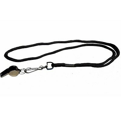 Workoutz Solid Steel Coaching Whistle With Lanyard Pe Camping Sports Referee