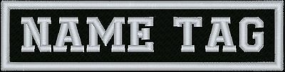 """Bikers Custom Name Tag Embroidery Sew on Patch 4"""" (NT7)"""