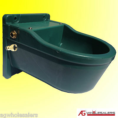 Water Trough 9.3L Strong Nylon C/W Automatic Float Stable Horse Dog Cattle Bowl