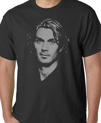 Paolo Maldini Mens Football Legend Milan Italy T Shirt World Cup Top Gift Retro