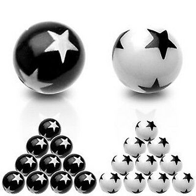 Star Logo Spare Balls - Belly / Nipple / Tragus / Labret / Eyebrow / Tongue Bars