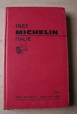 ) guide MICHELIN rouge ITALIE 1967