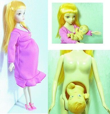 Real Pregnant doll mom doll have a baby in her tummy
